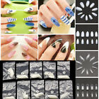 500pcs Women Fake Almond Oval Pointy Full False Nail Tips Acrylic Claws Manicure