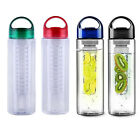 800ml Fruit Infuser Water Bottle BPA Home Sports Health Juice Infusing Infusion