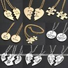 "20"" Fashion Family Sisters Lovers Chain Charm Pendant Necklaces Jewelry Set Gift"
