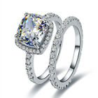Wedding Engagement Ring Set For Women 2.5ct White Cz 925 Sterling Silver Sz 5-10
