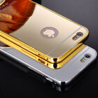 For iPhone 6 6S 4.7/Plus 5.5 Luxury Aluminum Metal Mirror Ultra-thin Case Cover