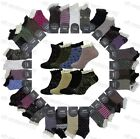 6 Pairs Ladies Lace Top Ankle Trainer Socks Womens Girls Frilly Trim Trimmed 4-7
