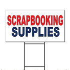 Scrap Booking Supplies Red Blue Corrugated Plastic Yard Sign /Free Stakes