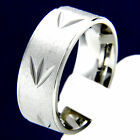 Wedding Band Mens Stainless Steel Engagement Ring Anniversary