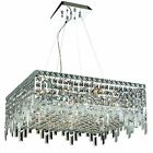 2033 Maxime Collection Hanging Fixture L24in W24in H7.5in Lt 12 Chrome