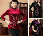 New Arrival Chinese Women's Tradition Velours Shirt Blouse Tops M L XL XXL 3XL