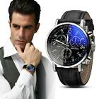 Luxury Fashion Faux Leather Mens Watchs Casual Analog Waterproof Watch Watches