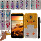 For Alcatel One Touch Conquest 7046T DIAMOND TPU SILICONE Bumper Case Cover +Pen