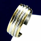 New Two Tone Stainless Steel Men's Engagement Wedding Anniversary Band Ring