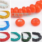 50pcs 8mm Abacus Style Lampwork Glass DIY Charms Spacer Loose Beads Wholesale