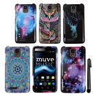 For ZTE Engage LT MT N8000 Snap On PATTERN HARD Case Phone Cover + Pen