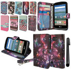 For LG Optimus Zone 3 VS425PP Spree K120 K4 Flip Wallet POUCH Case Cover + Pen