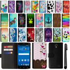 For ZTE ZMAX 2 Z958 Z955L Design Flip Wallet Leather POUCH Case Cover + Pen