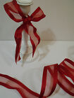 ROMANTIQUE Red Edgey & Elegant Organza with detailing - Luxury Wire Edged Ribbon
