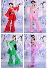 Chinese Ancient Costume Classical Maxi Dramaturgic Bell-bottoms Yangko Costume