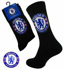 4 Boys CHELSEA Crest Badge FOOTBALL CLUB Soccer Team Socks UK 4-6