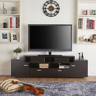 NEW Furniture of America 72-inch Peyson Modern Tiered TV Stand Black Cappuccino