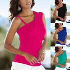 Fashion Women Summer Vest Sleeveless Shirt Blouse Casual Tank Tops T-Shirt NW