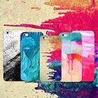 Watercolor Rubber Soft TPU Silicone Case Back Cover for Apple iPhone 5 6s 7 Plus