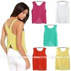 Women Chiffon Sleeveless Blouse Sexy Clubwear Solid Shirt Tops Tank Top Vest