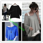 Hot Women Casual & Loose Tops Batwing Sleeve Blouse T-Shirt Casual Fashion Lady