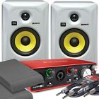 2x KRK RP5 G3 White Monitor Speakers & Focusrite 2i2 2nd Gen Audio Interface