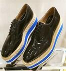 Fashion womens creeper espadrilles brogues lace up oxford shoes Pumps platform