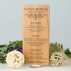 Personalised Favours Wedding Menu Choice Cards w/ Stands for Tables - Wooden