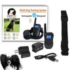 Bluescreen Waterproof Remote Shock Rechargeable LCD Pet Dog Training Collar WLSG