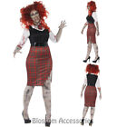 CL943 Curves Zombie School Plus Womens Bloody Halloween Fancy Horror Costume