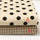 50cm*160CM Dot/Check 100%cotton fabric Quilting Quilt Clothes Bedding Sewing