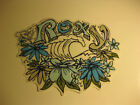 NEW Wave & Flower Roxy Sticker Decal Surf Skate Swim Snow Board Car Truck Bumper