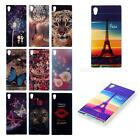Art Pattern Blue Ray painted Soft TPU Protective Case for Sony Xperia Z5 JMHG