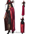 CL946 Deluxe Cape Red Black Satin Reversible Vampire Witch Gothic Halloween