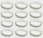 12PcsX Elastic Crystal Toe Ring Clear or Mixed Colors Wholesale Lot Pack White