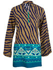 Ladies Indian Long Sleeve Kurta-Kurti Tops Multicoloured KL6685 Various Sizes