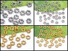 200Pcs Tibetan SILVER & GOLD Flower Daisy Charms Spacers Beads DIY Findings 6MM