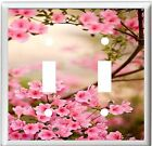 PINK AZALEAS #1 LIGHT SWITCH COVER PLATE U PICK SIZE