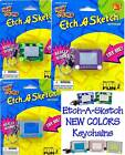 ETCH A SKETCH Keychain COLORS Camouflage Jelly Glitter Keyring Basic Fun Retired