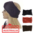 Crochet Turban Headband Ear Warmer  Hair Band Knit Knitted Flower Beehive Stitch