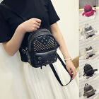 Chic Women Faux Leather Rivet Mini Backpack Shoulder Bag Bookbag 5 Colors Gift