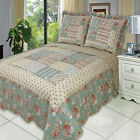 Annabel Oversize Coverlet Set Luxury Microfiber Quilt by Royal Hotel