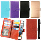 For Apple iPod Touch 5 5th 6 6th Gen Magnetic Card Holder Wallet Cover Case +Pen