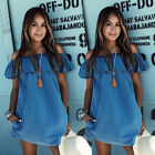 New Sexy Womens Summer Mini Playsuit Beach Shorts Dress Ladies Jumpsuit UK 6-14