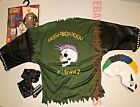 Boys Halloween Costume SPIKE KLOWN Evil Punk Clown mask glove shirt skull MED LG