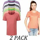 2-PACK-Russell tshirts Tops-Kids-Girls Heavy Duty T-Shirt-Crew Neck Short Sleeve