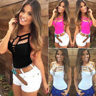 Trendy Women Sexy Hollow Bandage Casual Vest Sleeveless Blouse Tank Tops T Shirt