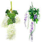 Silk Wisteria Flowers Home Decor Artificial Plant Garland Wedding Hanging