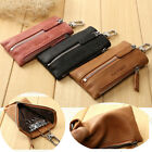 Men Soft PU Leather Keychain Car Key Ring Case ID Card Pouch Mini Wallet Zip
