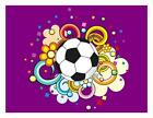 Custom Made T Shirt Soccer Ball Swirl Designs Flowers Athletic Sports Game